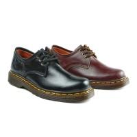 Sepatu Boots Pria Low Boot 3 Hole Kulit Asli Like Docmart 1060