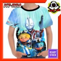Kaos Upin Ipin Episode Ultraman Ribut Baju anak