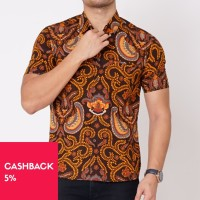 Kemeja Batik Modern Pria /Kemeja Kerja Batik Pendek M-XXL (1912.742.2) - M