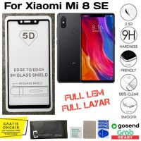 Tempered Glass Xiaomi Mi 8 SE anti gores full cover layar kaca 5D