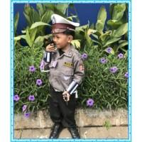 Baju polisi lalu lintas anak Baju pocil lucu Baju profesi Polantas - S