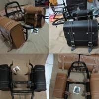 Rak kawasaki W175. back rack W175.plus side bag