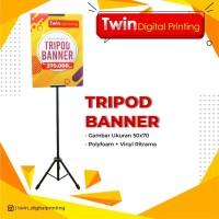 Tripod Banner 50 X 70 cm / Cetak Standing Display