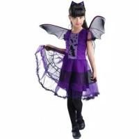 kostum baju anak perempuan penyihir/kostum Halloween f3