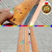 Sale~ PENGGARIS KAYU 1meter Kualitas Bagus Panjang 100 cm (1m)