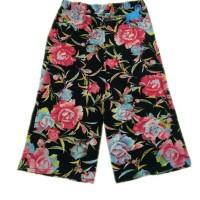 Celana Kulot Wanita Motif Bunga Elegant
