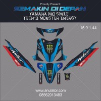 Sticker Striping Motor Stiker Yamaha Mio Sporty Biru Monster Energy