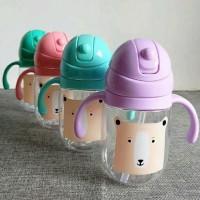 HOT SALE Botol Minum Susu Anak Karakter Tempat Air Minum Anak Sedotan
