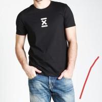 Kaos Baju Obral Combed 30s Distro Strip X Bomboogie Polos Custom Murah