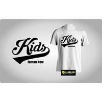 Kaos Baju Obral Combed 30s Distro Kids Ekor Jaman Now Polos Custom