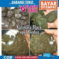 HABISKAN STOK Bahan Batu Black Opal Kalimaya Bledug Boulder MAJA