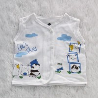 Two Mix Baju Bayi Putih Tanpa Lengan / Baju baby tanpa lengan Putih