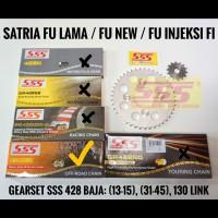 GEARSET/GIRSET/GIR SET SSS 428 SATRIA FU/NEW/FI RANTAI 428 GOLD HMX