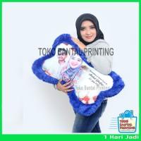 Bantal Tulang Printing - Bantal Foto - Bantal Custom - Kado