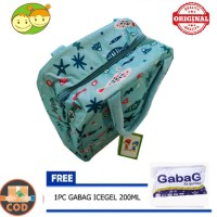 Baby Grow Cooler Bag Asi Blue - Lunch Bag Penyimpan Asi FREE ICE GEL