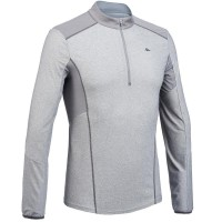 Baju gunung pria jaket hiking jaket gunung mountain t-shirt grey