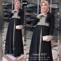 FASHION WANITA ABAYA KODIAN TURKEY 1057 BAJU MUSLIM WANITA GAMIS SYARI