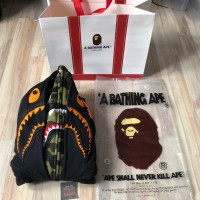 Bape X Undefeated Double Zip Hoodie Black Green Camo Best Perfect 1:1