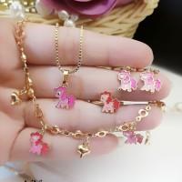 xuping set perhiasan anak lapis emas 24k 19a15