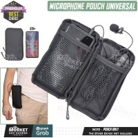 Tas Pouch Dompet Case Powerbank - Microphone Clip - HP Android IOS