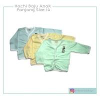 3 PCS Hachi Baju Anak Bayi Kancing Depan Lengan Panjang Warna Size 16