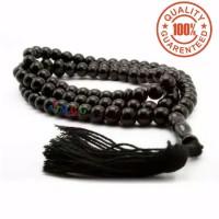 TASBIH BATU NATURAL BLACK ONYX 99 BUTIR 8MM