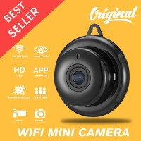 HD Wireless Ip Mini Camera Wifi Smart Net Cam Aplikasi V380 - Putih