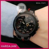 Jam Tangan Pria Ferrari 6008 RED List Rubber