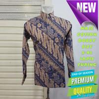 Baju Kemeja Batik Pria Motif Tulis Seperti ATBM SUTRA Pesta BX02