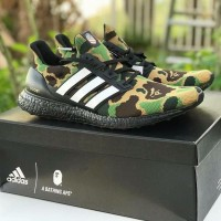 Sepatu Adidas X Bape Ultraboost Green Camo Premium Quality