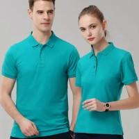 Polo shirt cotton pique polos uk. XXL warna Hijau Tosca