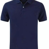 Polo shirt cotton pique polos uk. M,L,XL warna Blue Navy