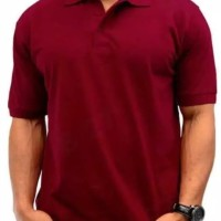 Polo shirt cotton pique polos uk. M,L,XL warna Merah Maroon