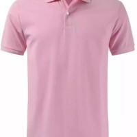 Polo shirt cotton pique polos uk. M,L,XL warna Pink Soft