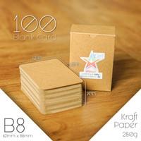 100 Blank Card / Kartu Kosong - Kraft Paper 280g - 62mm x 88mm (B8)