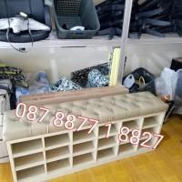 Kursi Tunggu Sofa 1,5 M, Rak Sepatu, Bank, Bumn, Kampus, Cso Kaila7878