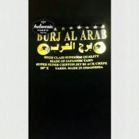 TERMURAH Toko Kain Grosir Kain Niqab Kain Jetblack Sifon Burj Al Arab