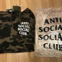 Hoodie Anti Social Social Club X Bape Green Army Camo Soniamatika