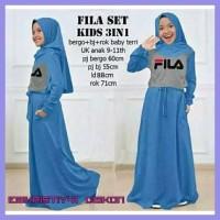 Sale Baju Gamis Anak Perempuan Fila Set Kid 3 In 1