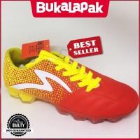 Sepatu bola specs Equinox FG Emperor red yellow new 2018