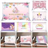 Unicorn Baby Birthday Backgrounds Party Backdrop Photography
