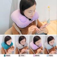 Romix Automatic Inflatable U Shaped Pillow Washable Soft PVC Neck