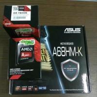 Paket Processor AMD A6 7400K Box dan Motherboard Asus A68HM-K