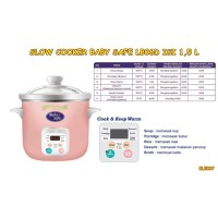 ELEK87 SLOW COOKER BABY SAFE KAPASITAS 1,5 Liter LB06D WARNA PINK