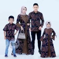 satu set baju batik couple keluarga R&S ayah ibu anak laki anak cewek