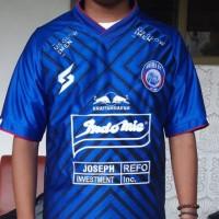 Baju Jersey Arema FC SEA Liga 1 2020 home paragon full bordir mboissam