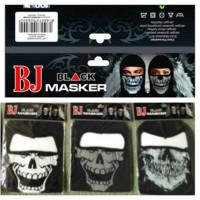 Balaclava Tengkorak Buff Skull Ninja Masker Ninja Sablon BJ Black Mask