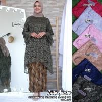 baju setelan kebaya wanita zulfa#2 jumbo broklat muslim modern modis