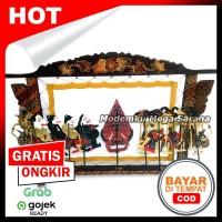 Miniatur Pagelaran Wayang Kulit Halus - Kayu Batik