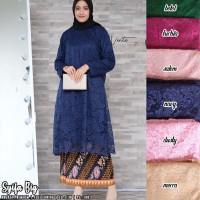 baju wanita atasan zulfa big brukat tunik super jumbo modern muslim